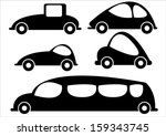 car icons isolated on white... | Shutterstock .eps vector #159343745