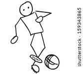 soccer player doodle   Shutterstock .eps vector #159343865