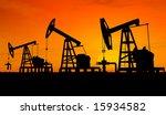 three pumps over orange sky   Shutterstock . vector #15934582
