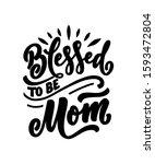 hand drawn lettering pregnancy...   Shutterstock .eps vector #1593472804