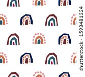 rainbow cut out paper abstract...   Shutterstock .eps vector #1593481324