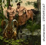 3d Illustration Of Centaur In A ...