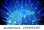 cyber digital earth image... | Shutterstock . vector #1593491407