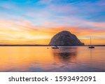 Morro Rock At Sunset  Morro Bay ...
