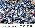 hand made ceramic pottery. hand ... | Shutterstock . vector #1593512854