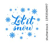 Let Is Snow Calligraphy Hand...