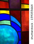 Abstract Backlit Stained Glass...