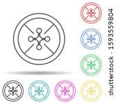 drone multi color style icon....