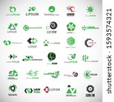 abstract element icon set.... | Shutterstock .eps vector #1593574321