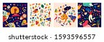 decorative abstract collection... | Shutterstock .eps vector #1593596557
