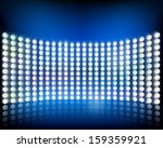 wall of lights. vector...