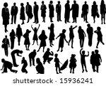 adult and children   Shutterstock .eps vector #15936241