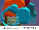 abstract digital image. smooth  ... | Shutterstock . vector #1593635944