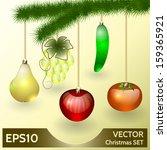 vector christmas decoration in...   Shutterstock .eps vector #159365921