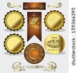 set luxury labels | Shutterstock .eps vector #159366395