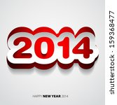 happy new year 2014 red and... | Shutterstock .eps vector #159368477