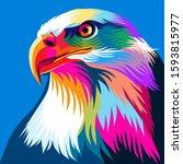 colorful illustration of eagle  ...   Shutterstock .eps vector #1593815977