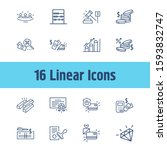 commerce icon set and coins...
