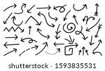 hand drawn arrow vector icons... | Shutterstock .eps vector #1593835531