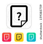 help and faq file icon. vector... | Shutterstock .eps vector #159383759