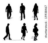men and women walking  vector... | Shutterstock .eps vector #15938467