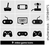 video games icon set | Shutterstock .eps vector #159384971