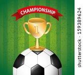 soccer design over green ...   Shutterstock .eps vector #159389624