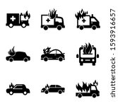 fire car icon isolated sign... | Shutterstock .eps vector #1593916657