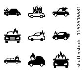 fire car icon isolated sign... | Shutterstock .eps vector #1593916681