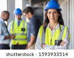 Portrait Of Woman Engineer At...