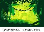 green background nature jungle...   Shutterstock .eps vector #1593935491