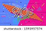 90s poster. nineties flashback. ...   Shutterstock .eps vector #1593957574