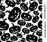 seamless pattern with jack o... | Shutterstock .eps vector #159398207