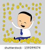the gold coin fall to the... | Shutterstock .eps vector #159399074