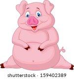 Fat Pig Cartoon