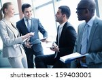 image of business people... | Shutterstock . vector #159403001