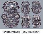 4 vector skull extreme... | Shutterstock .eps vector #1594036354