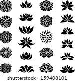 Stock vector flower set 159408101