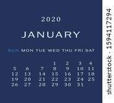 january 2020 calendar. the... | Shutterstock .eps vector #1594117294