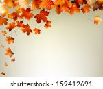 colorful autumn leaves falling... | Shutterstock .eps vector #159412691