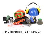 varios safety equipment.... | Shutterstock . vector #159424829