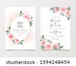 elegant wedding invitation card ... | Shutterstock .eps vector #1594248454