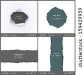 set of holes over white... | Shutterstock .eps vector #159429959