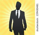 proud of himself entrepreneur.... | Shutterstock .eps vector #159430481