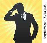 silhouette of business man... | Shutterstock .eps vector #159430484