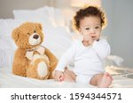 Cute Baby With Fluffy Hair....