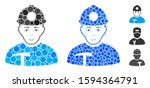miner composition of round dots ... | Shutterstock .eps vector #1594364791