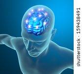 brain functions  neurons ... | Shutterstock . vector #159438491