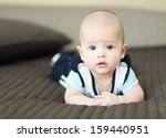 little baby with crossed hands | Shutterstock . vector #159440951