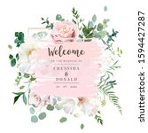 elegant floral vector card with ...   Shutterstock .eps vector #1594427287
